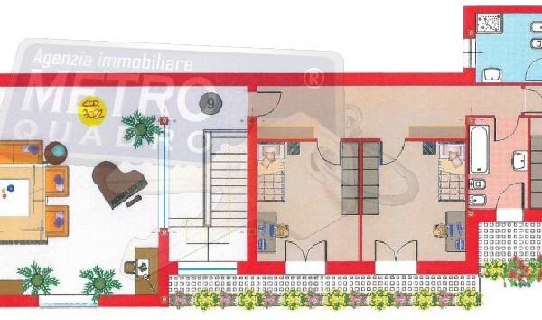 piantina con arredo - attico THIENE (VI)
