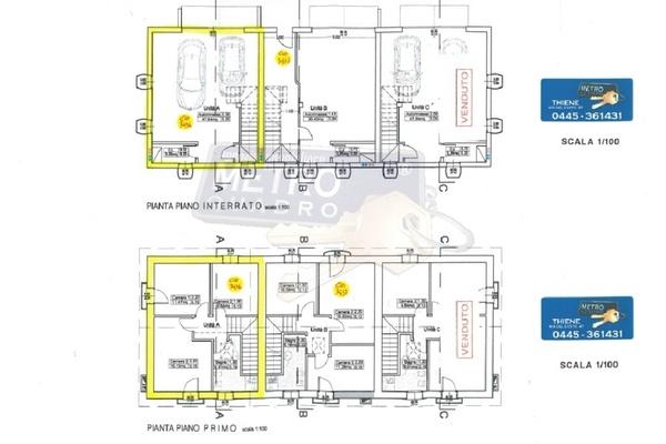 planimetrie piano primo - UNIFAM. A SCHIERA DI TESTA SALCEDO (VI)