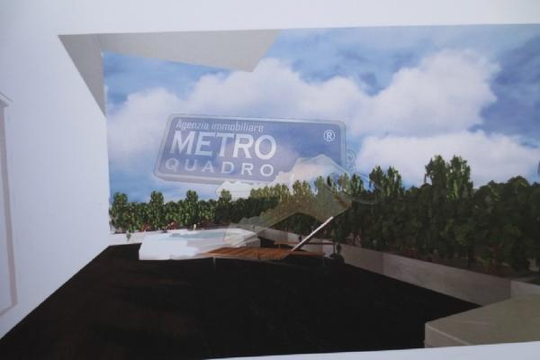 rendering terrazzo con spa - attico THIENE (VI)