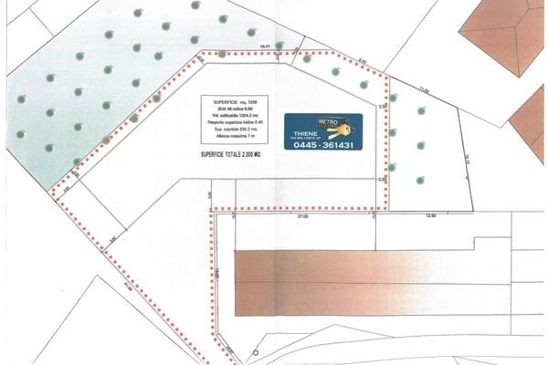 planimetria di lottizzazione - TERRENO EDIFICABILE ZUGLIANO (VI) CENTRO