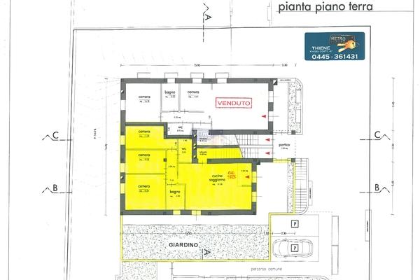 planimetria appartamento - APPARTAMENTO ZUGLIANO (VI)
