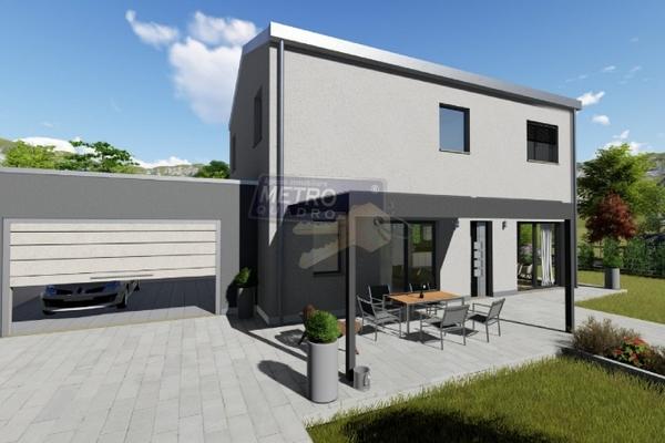 rendering fronte garage - UNIFAM. AUTONOMA THIENE (VI)