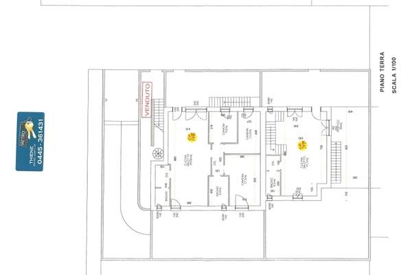 3779-20 planimetrie piano terr - UNIFAM. AFFIANCATA THIENE (VI)