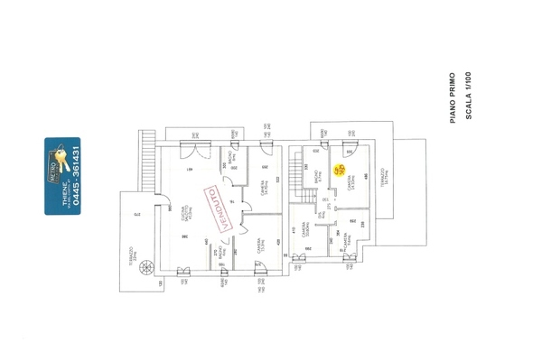 3779-22 planimetrie piano prim - UNIFAM. AFFIANCATA THIENE (VI)